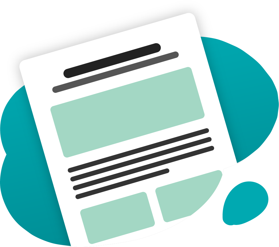 decorative graphic of a newsletter