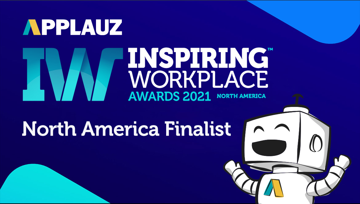 Applauz: Finalist for the 2021 North American Inspiring Workplaces Awards